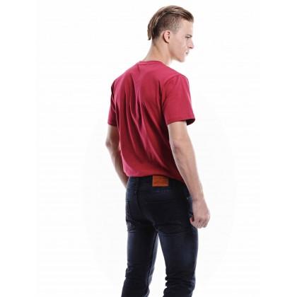 black mid-rise jeans