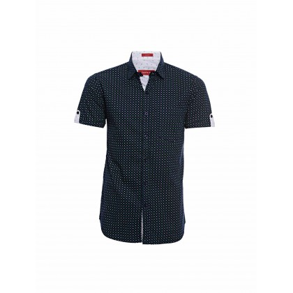 navy short sleeve navy shirt