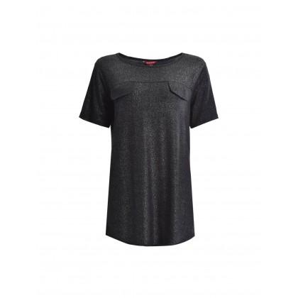 black short sleeve shimmery tee